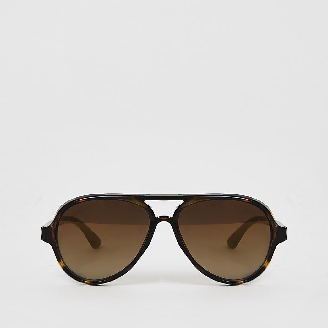 Mini - Bruine pilotenzonnebril voor jongens