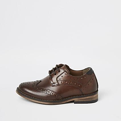 Mini boys brown leather brogues