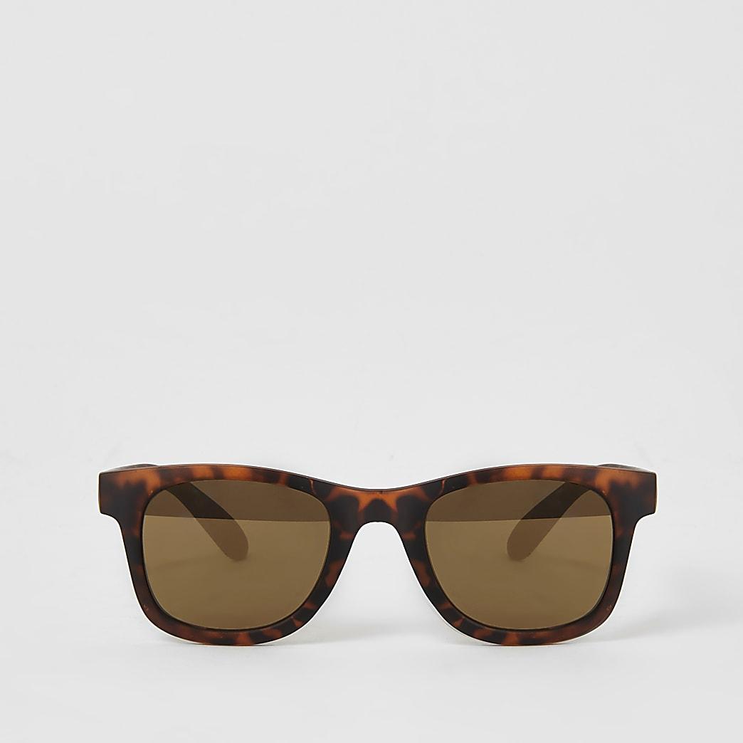 Bruine retro zonnebril voor mini boys
