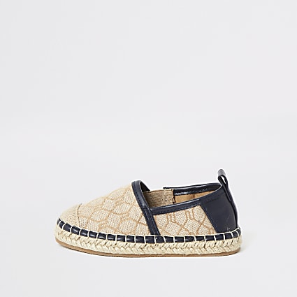 Mini boys brown RI espadrille sandals