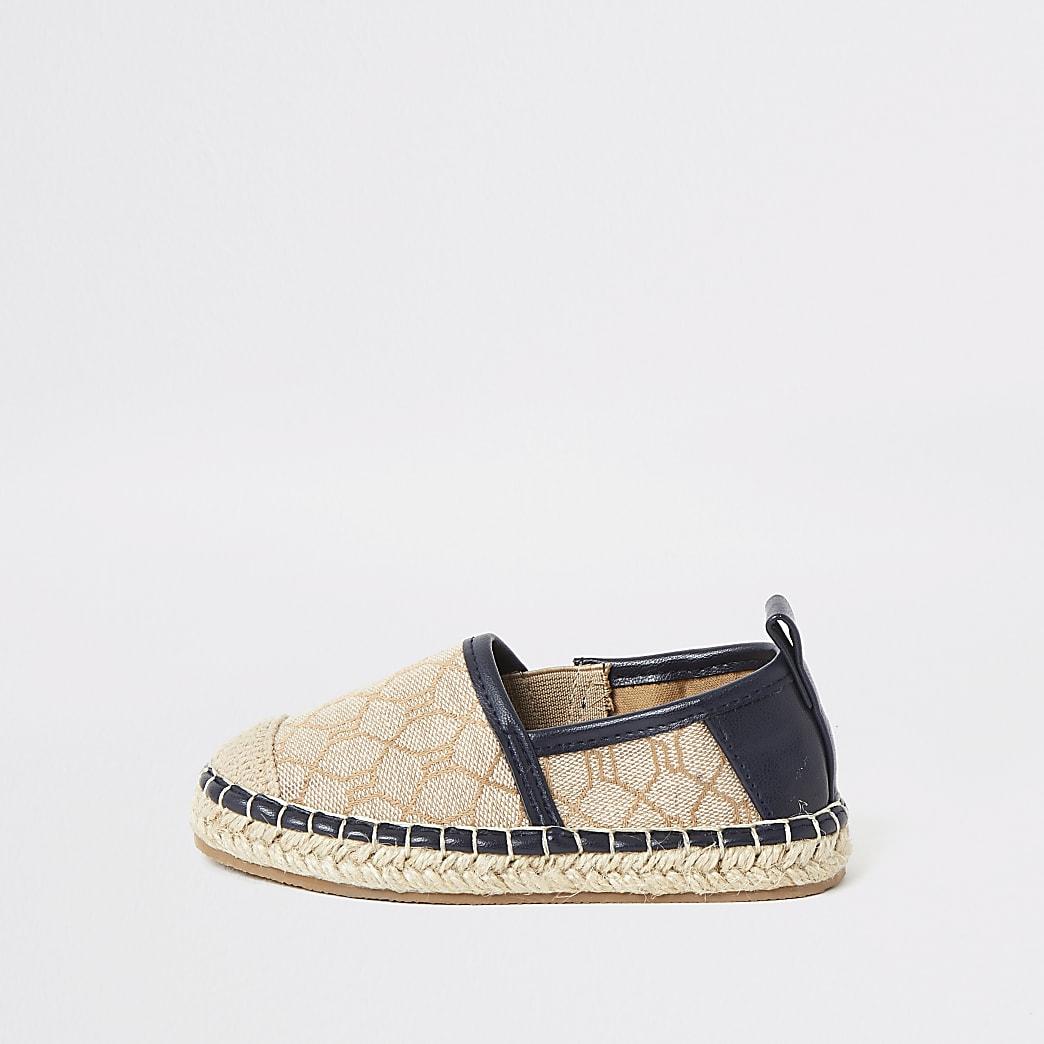 Mini boys brown RI espadrille sandals