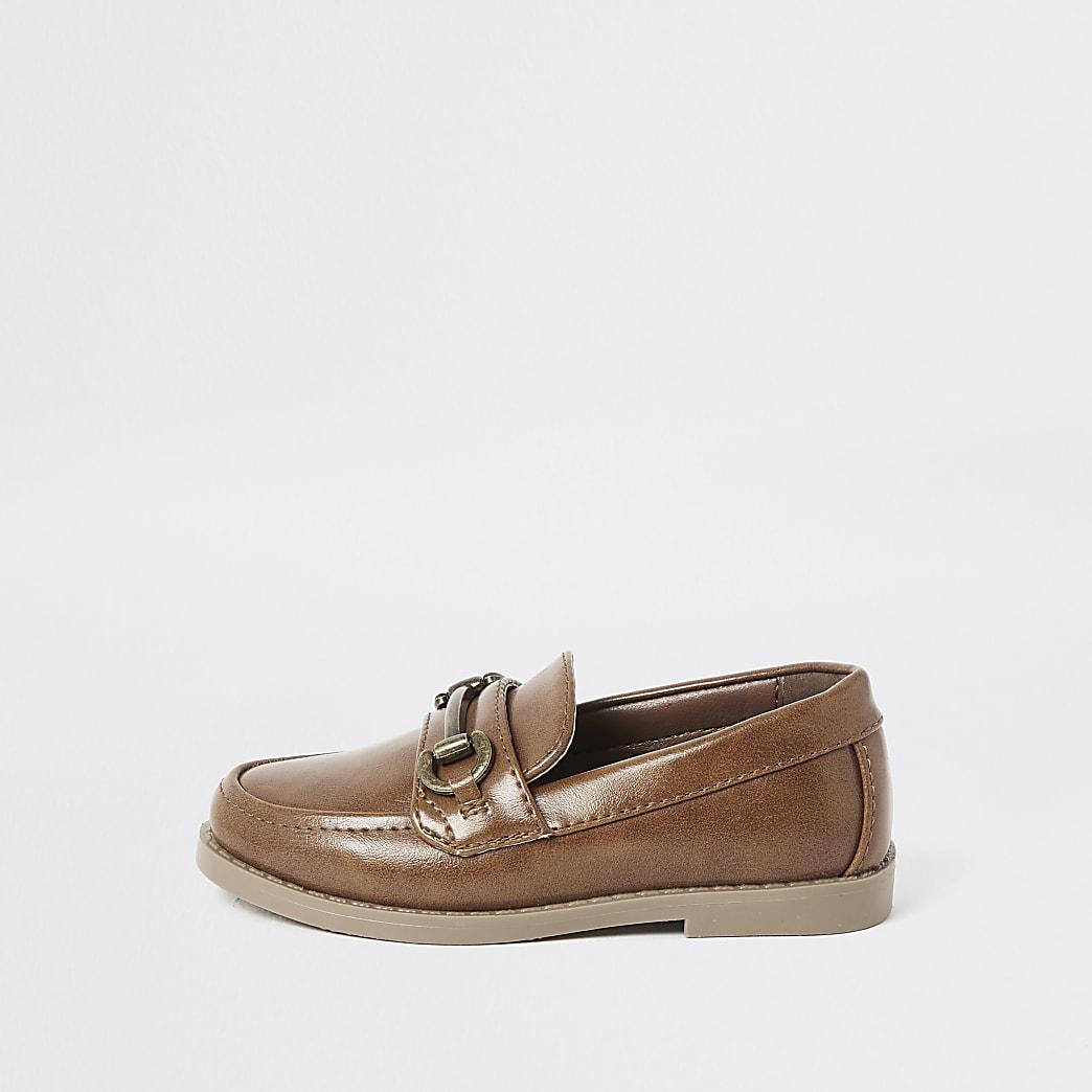 Bruine loafers voor mini boys