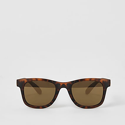 Mini boys brown tortoise shell sunglasses