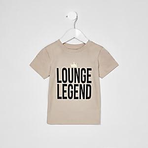 Mini - Liefdadigheids-T-shirt  met 'Lounge Legend'-tekst voor jongens
