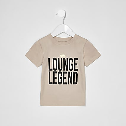 Mini Boys Charity Tee 'Lounge Legend'