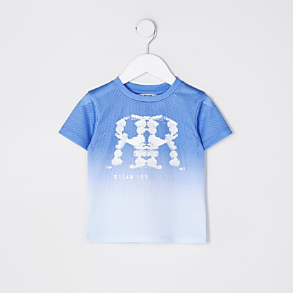 Mini boys cloud RR mesh t-shirt