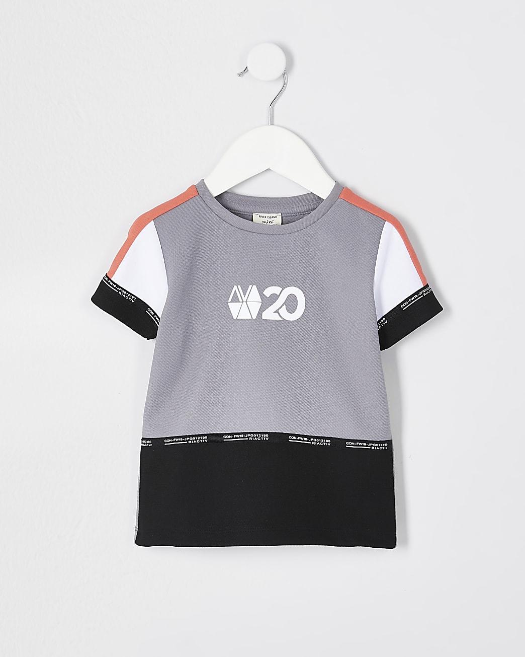 Mini boys coral RI Active block t-shirt