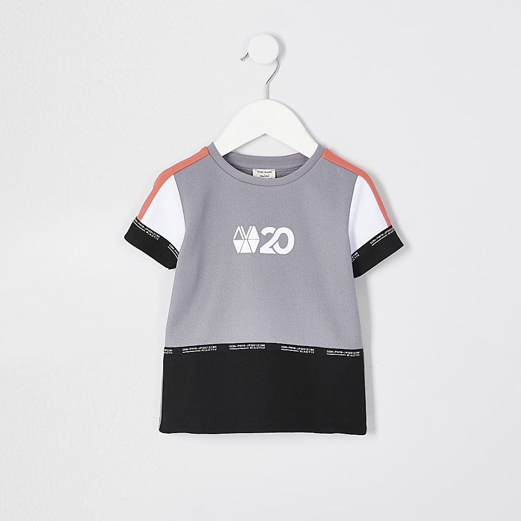 Mini boys coral RI Active block t-shirt