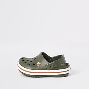 Mini - Crocs - Kaki clogs voor jongens