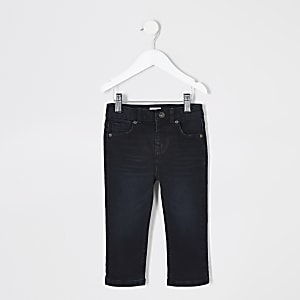 Mini - Donkerblauwe regular-fit Jake jeans voor jongens