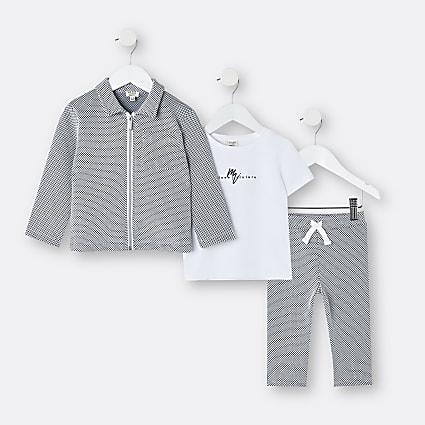 Mini boys dark blue Maison Riviera outfit