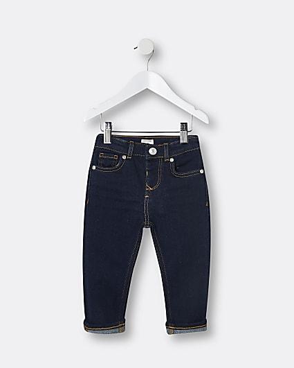 Mini boys dark blue skinny jeans