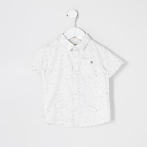Mini boys ecru neppy Maison Riviera shirt