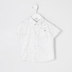 Mini - Maison Riviera - Ecru neppy overhemd voor jongens