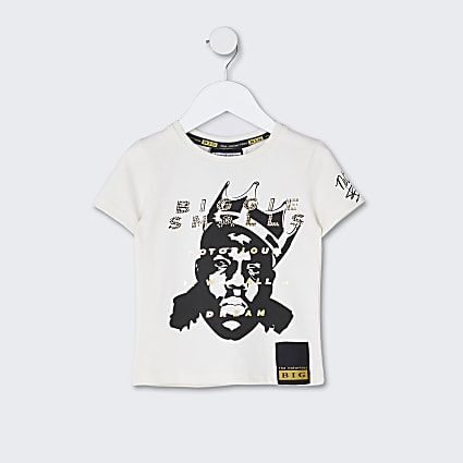 Mini boys ecru Notorious BIG t-shirt