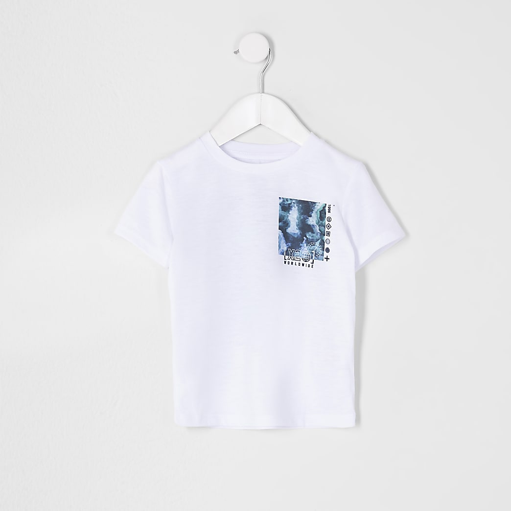 Mini boys glitch box print t-shirt