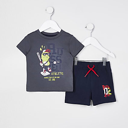 Mini boys graphic t-shirt set