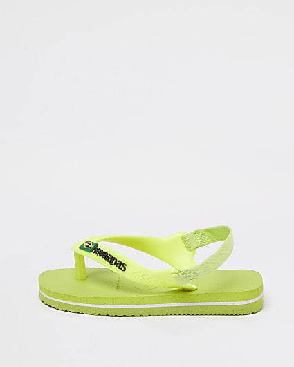 Mini boys green Havaianas sandals