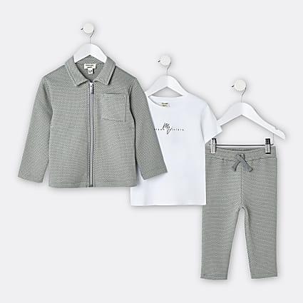 Mini boys green Maison Riviera jogger outfit