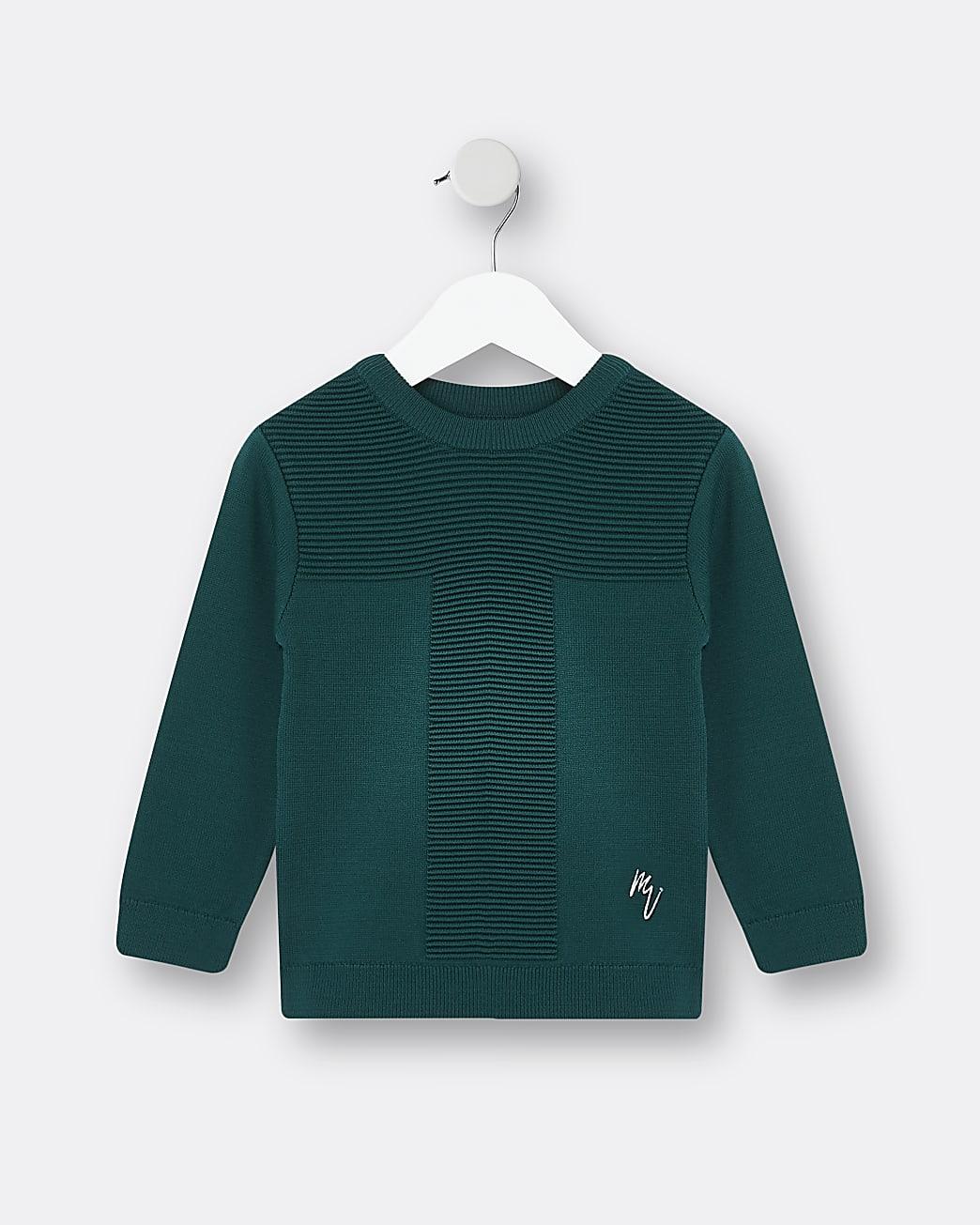 Mini boys green Maison Riviera jumper