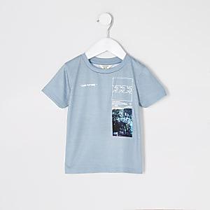 T-shirt imprimé« Ourfuture » vert pour mini garçon
