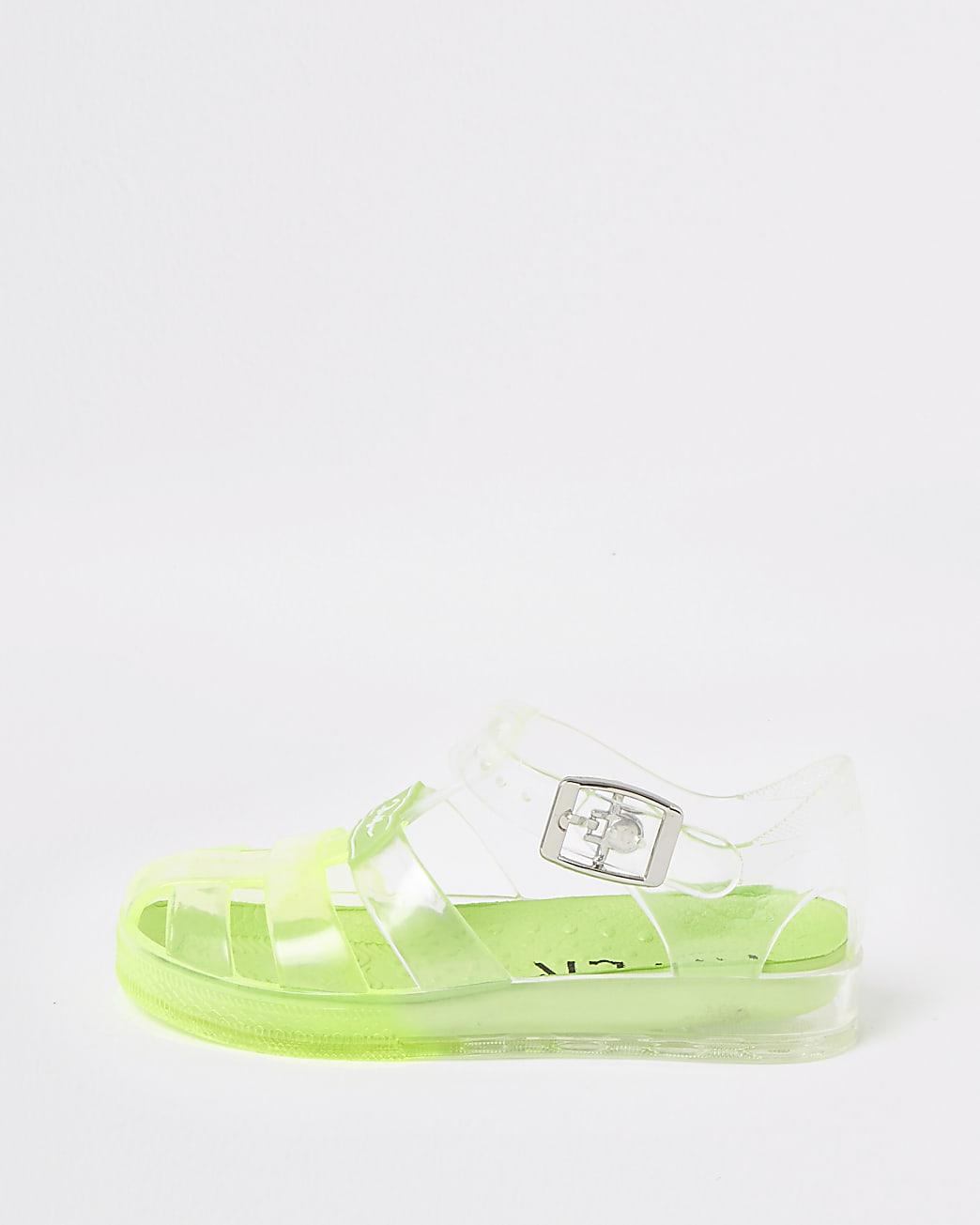 Mini boys green Prolific jelly sandals