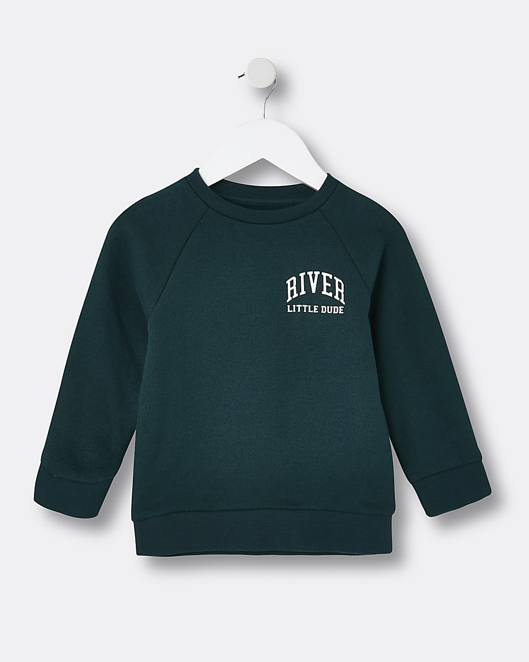 Mini boys green RI 'Little Dude' sweatshirt