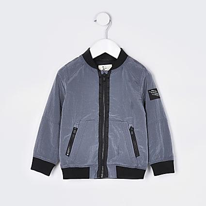 Mini boys grey bomber jacket