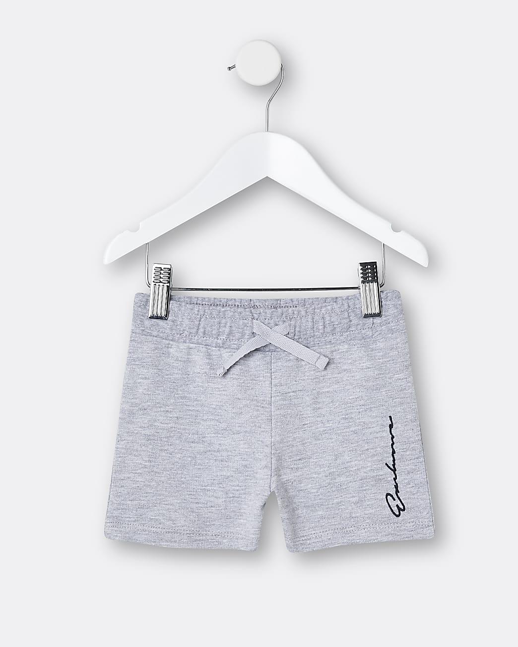 Mini boys grey 'Exclusive' shorts