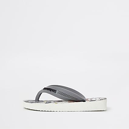 Mini boys grey Havaianas flip flops