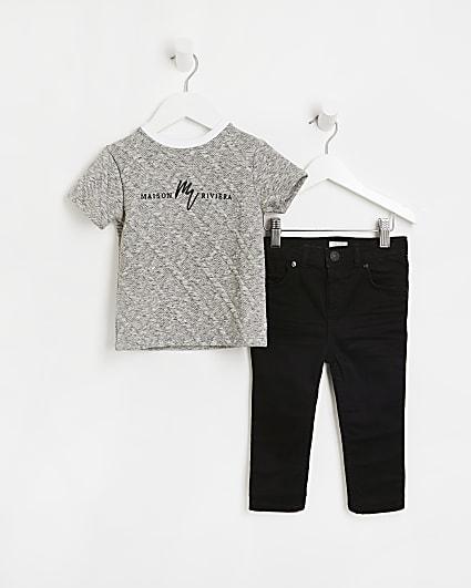Mini boys grey Maison Riviera t-shirt outfit