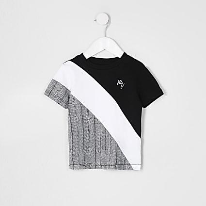 Mini boys grey Masion Riviera blocked t-shirt