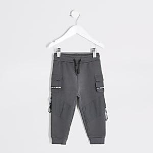 Mini boys grey MCMLX utility joggers