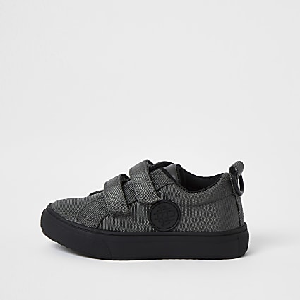 Mini boys grey perforated trainers