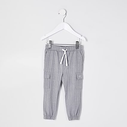 Mini boys grey pinstripe smart trousers