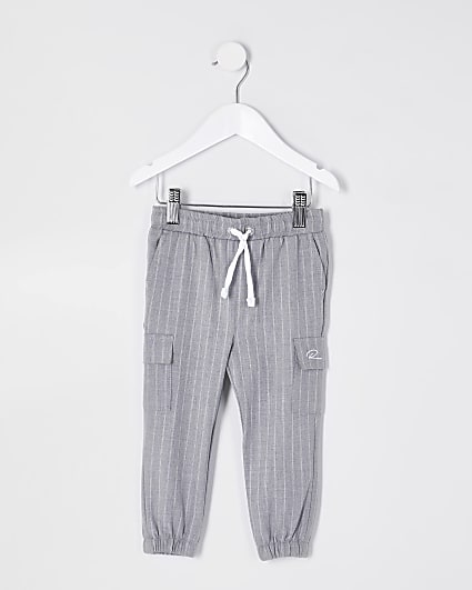 Mini boys grey pinstripe smart trousers