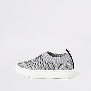 Mini – Prolific – Graue Strick-Sneaker für Jungen