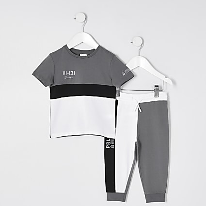 Mini boys grey prolific outfit