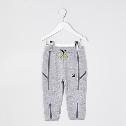 Mini boys grey RI Active slim joggers