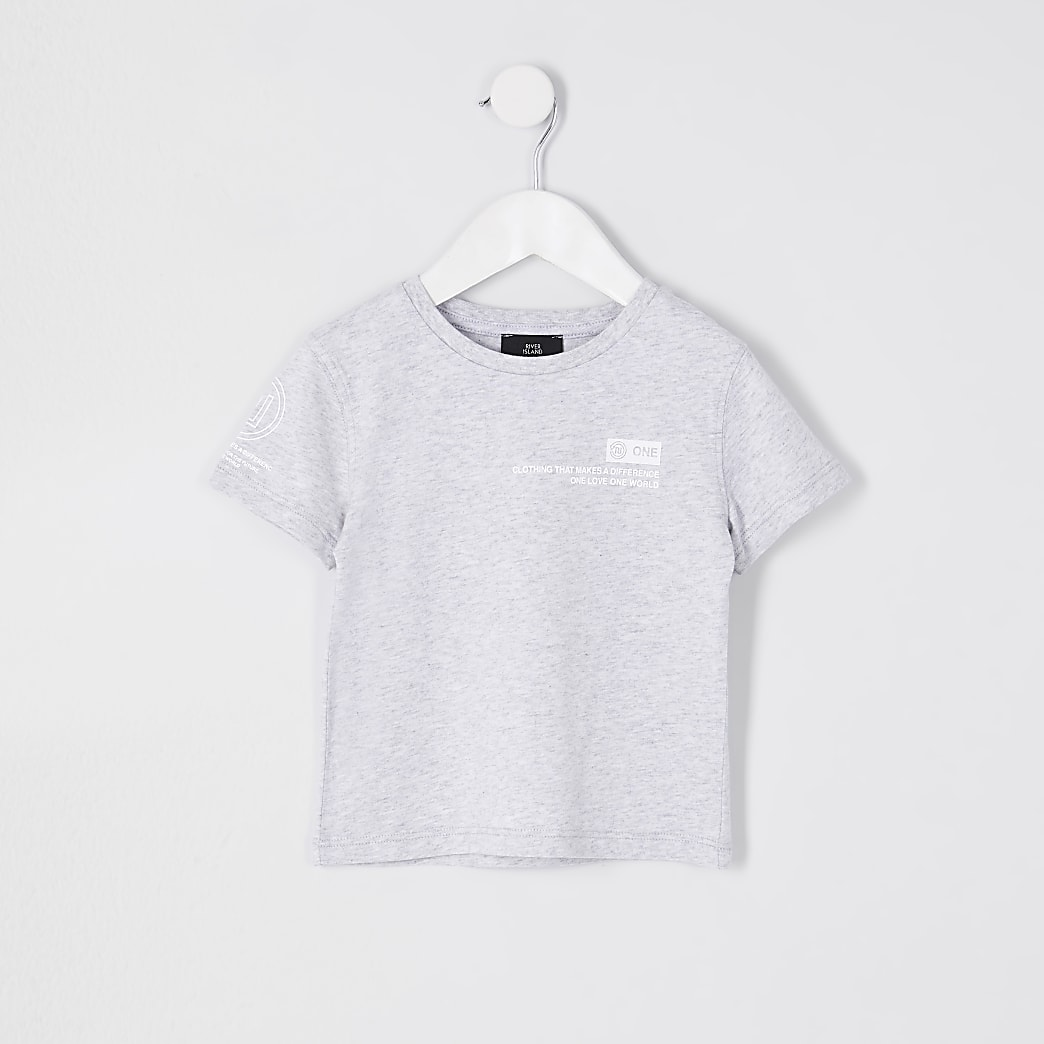 Mini boys grey RI one t-shirt