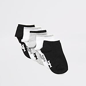 Mini - Grijze RI sokken voor jongens set van 5