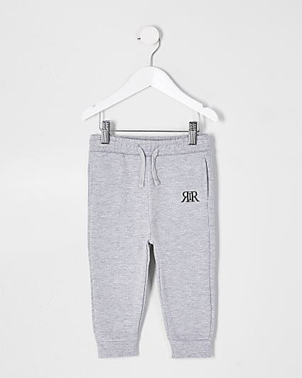 Mini boys grey RIR printed joggers