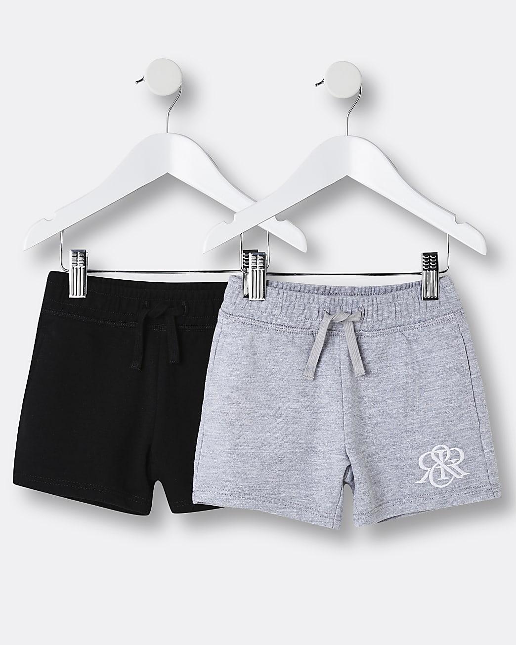 Mini boys grey RIR shorts 2 pack