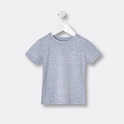 Mini boys grey 'River' t-shirt