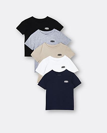Mini boys grey RR branded t-shirt 5 Pack