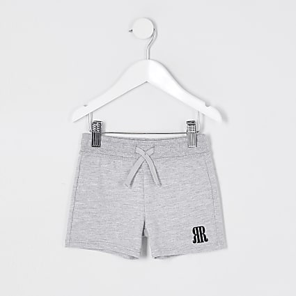Mini boys Grey 'RR' shorts