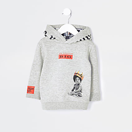 Mini boys grey 'The notorious B.I.G' hoodie