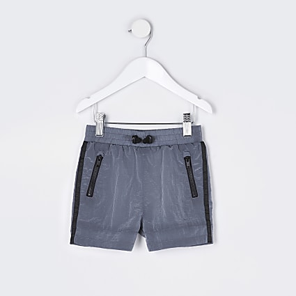 Mini boys grey two tone tech shorts