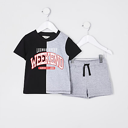 Mini boys grey 'Weekend' pyjama set