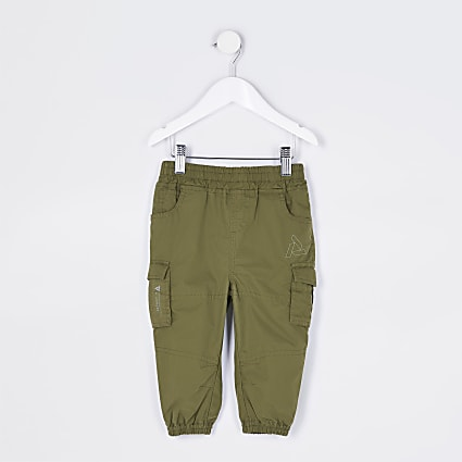 Mini boys khaki cargo trousers